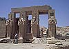 Ramesseum. Templo de Ramses II en la orilla occidental del Nilo. Luxor.