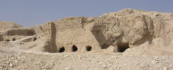 Vista de la Tumba de Senenmut (TT 71) en Sheikh Abd el-Qurna