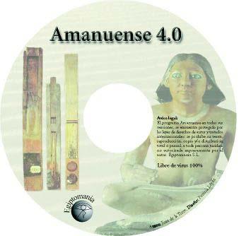 Amanuense 4.0: CD-ROM del programa para la edici�n, traducci�n y aprendizaje de la escritura jerogl�fica egipcia.